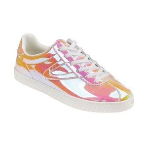 NWOB Tretorn Camden 5 irredescent yellow sneakers